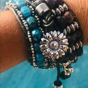 Ladies boho style wrap bracelet